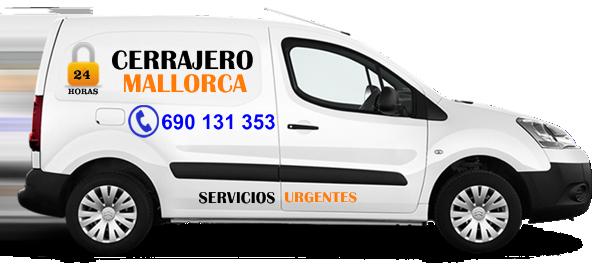 Vehículo Cerrajeros Mallorca servicios urgencias
