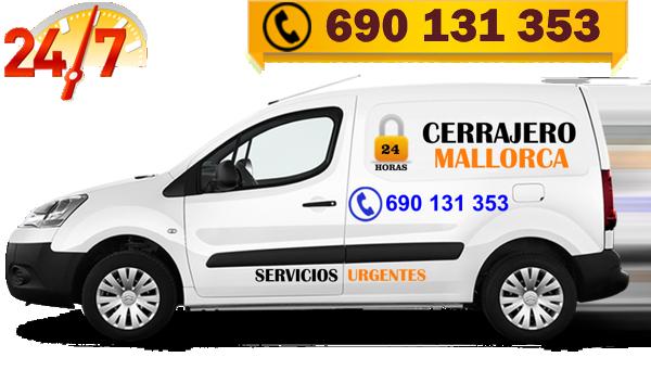 Vehículo de servicios de Cerrajeros Mallorca 24 horas